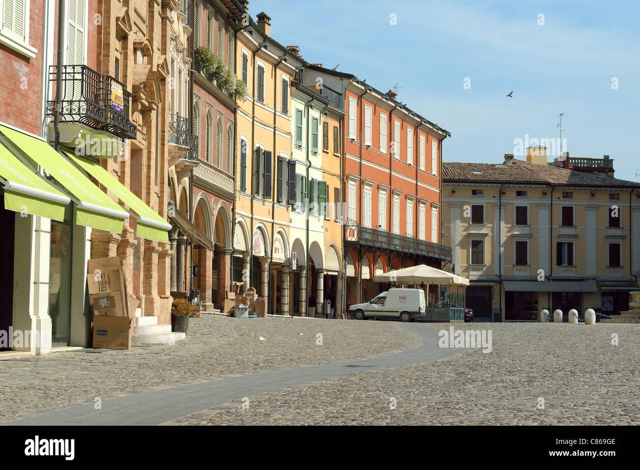 Cesena Piazza della Liberta Italy - Stock Image