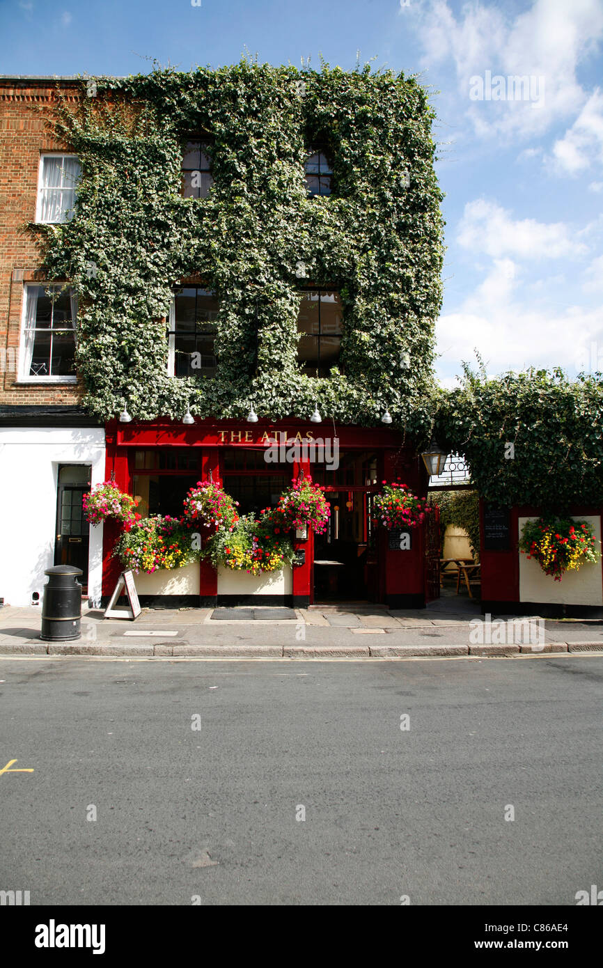 Atlas pub on Seagrave Road, West Brompton, London, UK - Stock Image