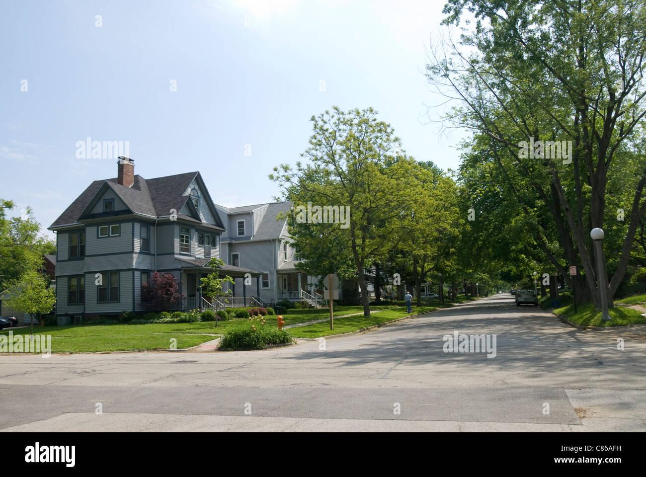 Suburban Houses, Urbana, Illinois, USA - Stock Image