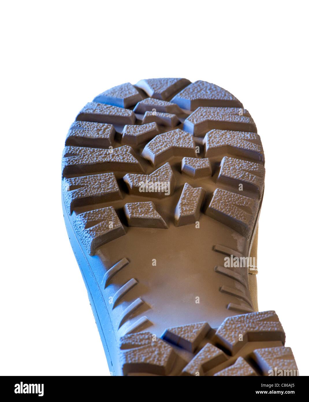 SHOE new close up close-up black shoe shoerepair repair sole size shoemaker maker shining shine glossy patent leather - Stock Image