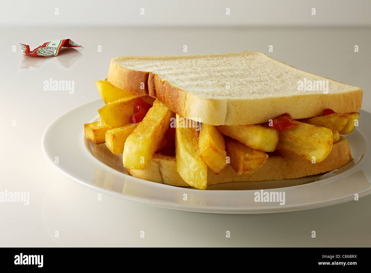 Chip Butty - Stock Image