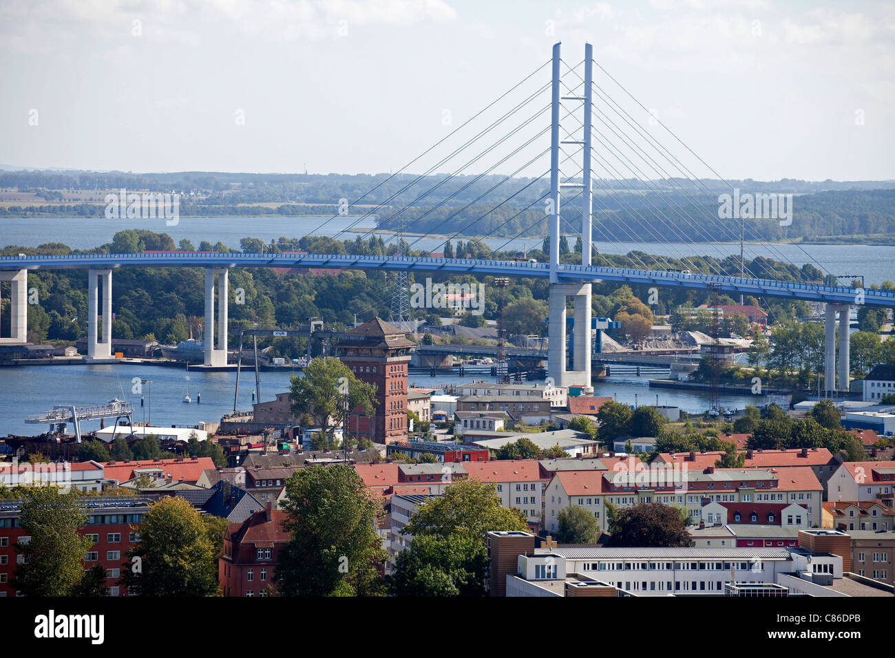 Ruegen Bridge, Hanseatic City of Stralsund, Mecklenburg-Vorpommern, Germany Stock Photo