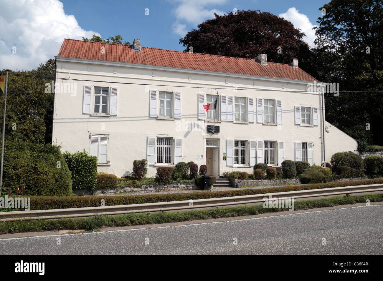 The old farmhouse 'Le Caillou', Napoleon's headquarters (where he slept) during the Battle of Waterloo, - Stock Image
