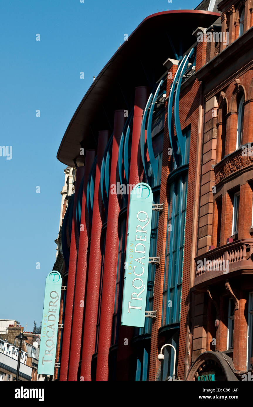 Trocadero building on Shaftesbury Avenue, London, United Kingdom - Stock Image