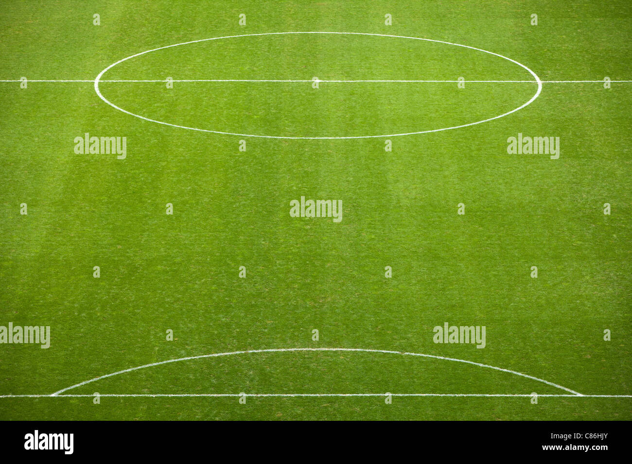 Lined soccer field - Stock Image