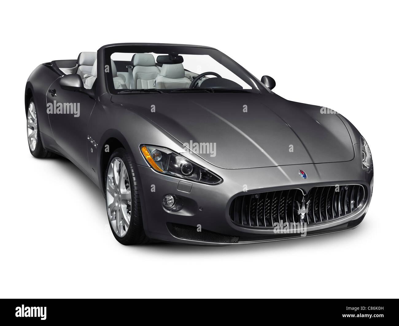 2011 Maserati GranTurismo Convertible GranCabrio Luxury Car Isolated On  White Background   Stock Image