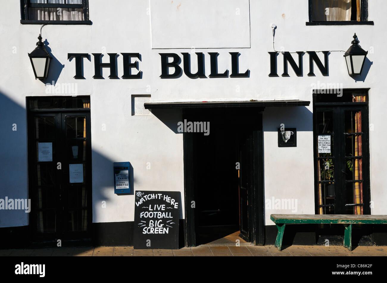 The Bull Inn, Totnes, Devon, UK - Stock Image