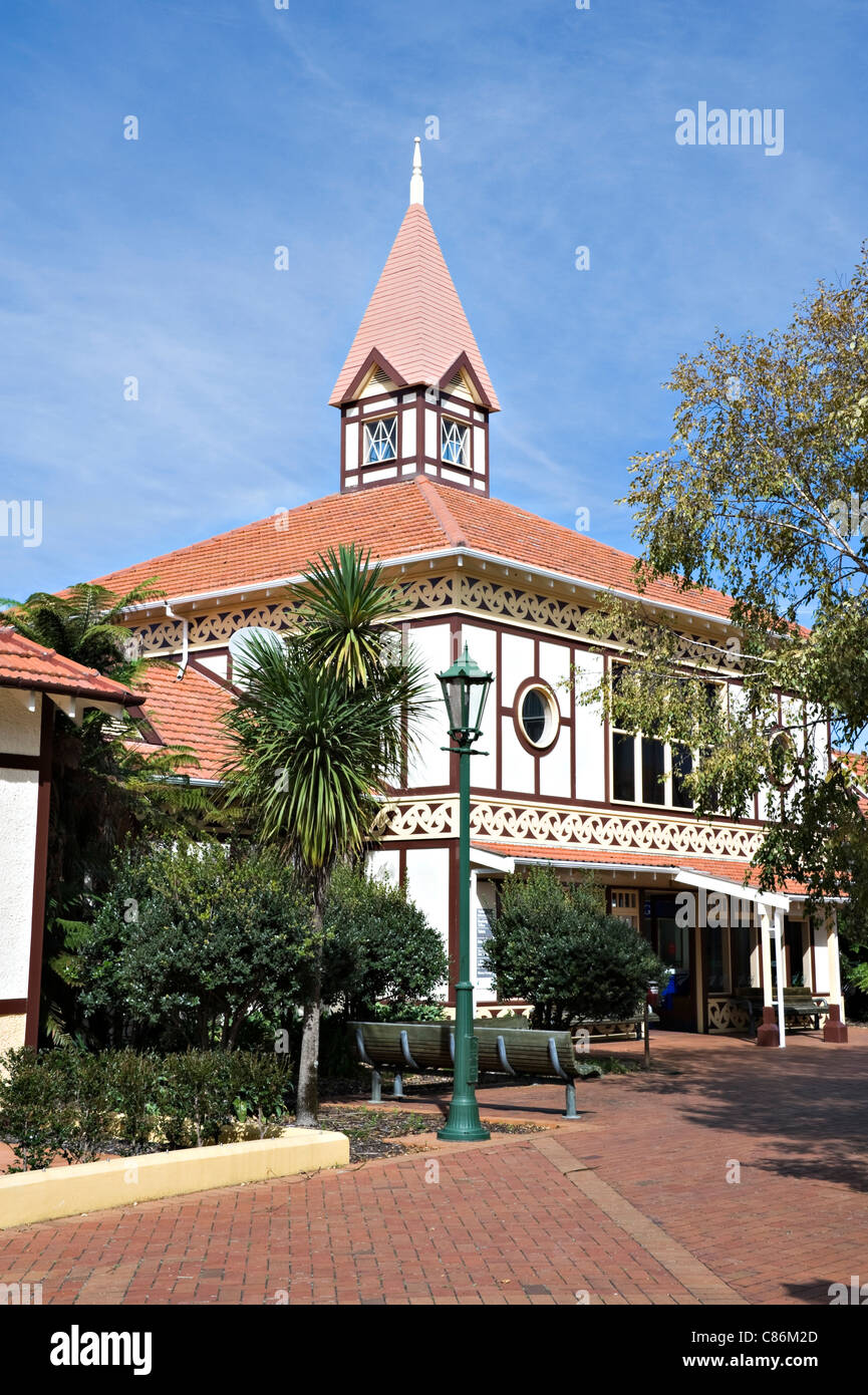 The Tourist Information Centre Building in Rotorua North Island New Zealand NZ - Stock Image