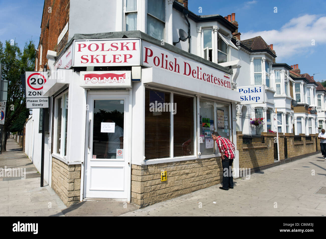 Polish shop in South Tottenham, London, UK - Stock Image