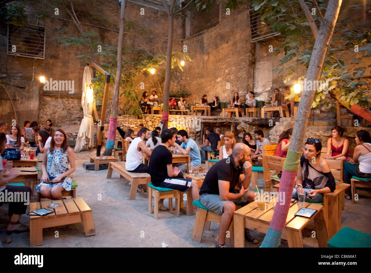 People At Six Dogs A Trendy Outdoor Bar In The Monastiraki Area Six