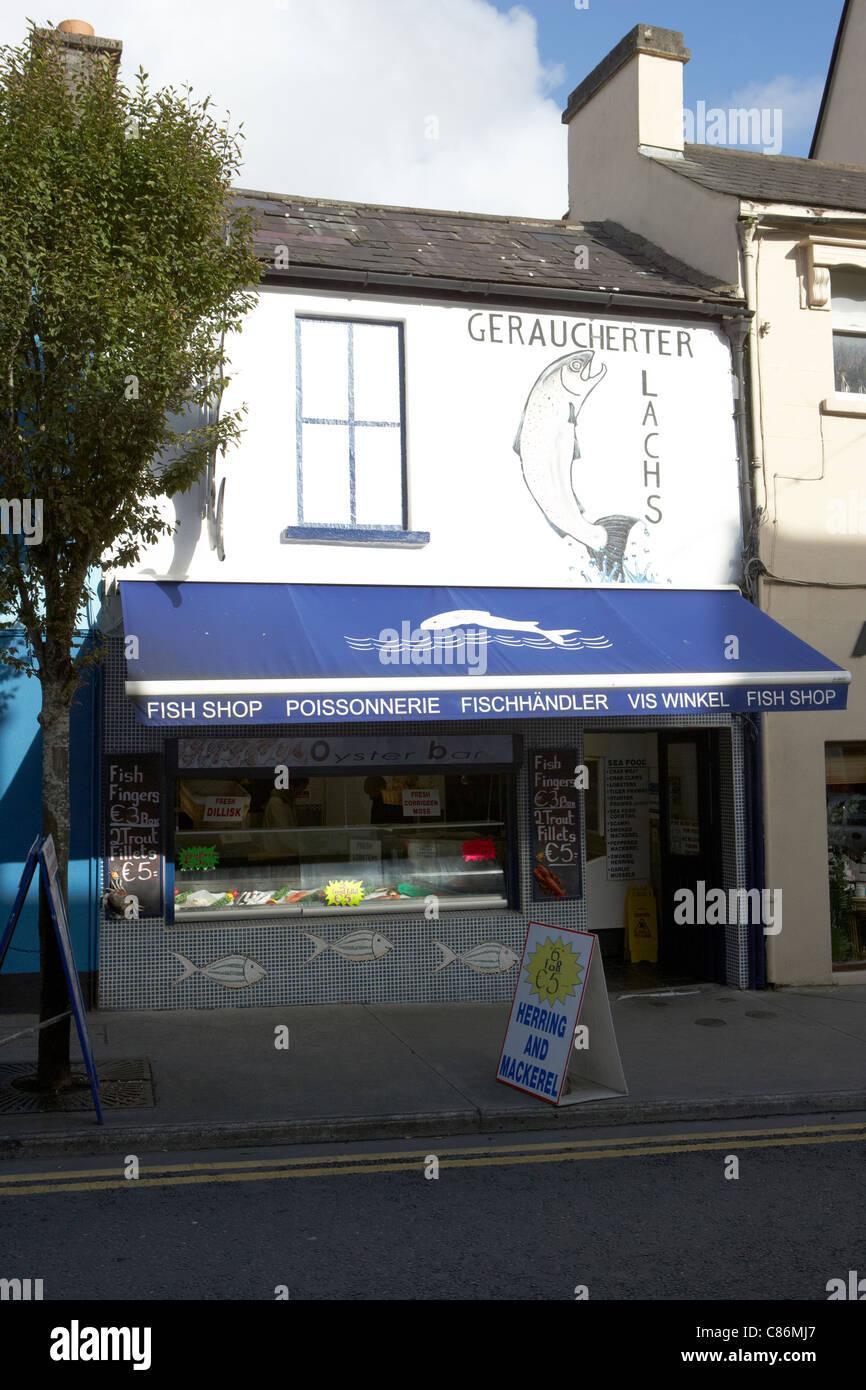 ballina fish shop town centre county mayo republic of ireland - Stock Image