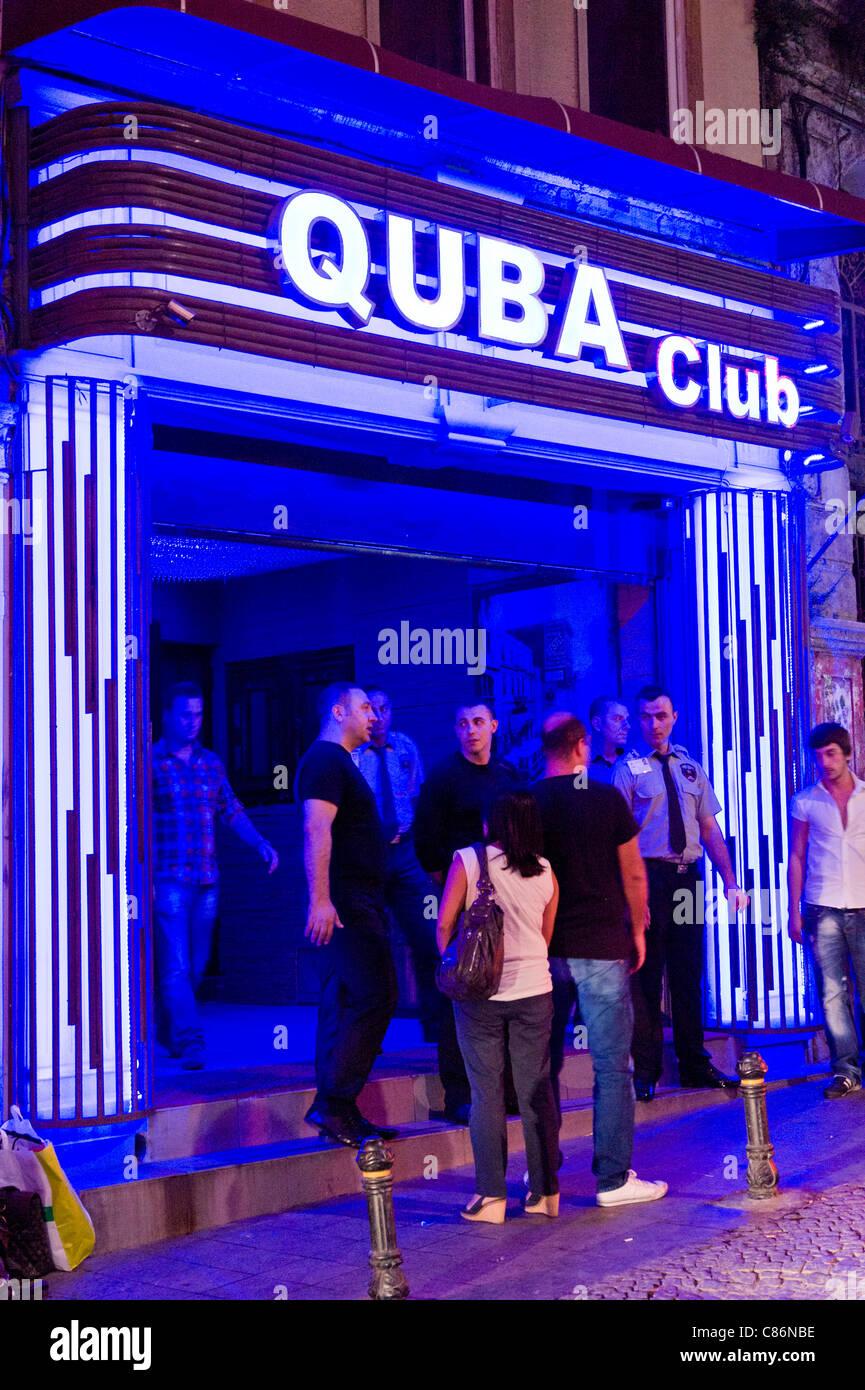 Quba nightclub, Beyoglu, Istanbul, Turkey - Stock Image