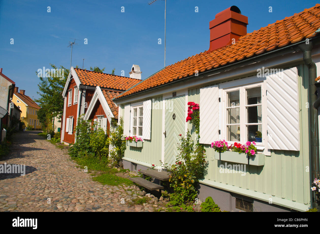 Gamla Stan the old town Kalmar city Småland southern Sweden Europe - Stock Image