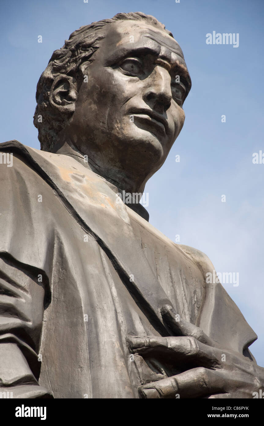 Statue of Christopher Columbus in front of the City Hall in Columbus, Ohio - Stock Image