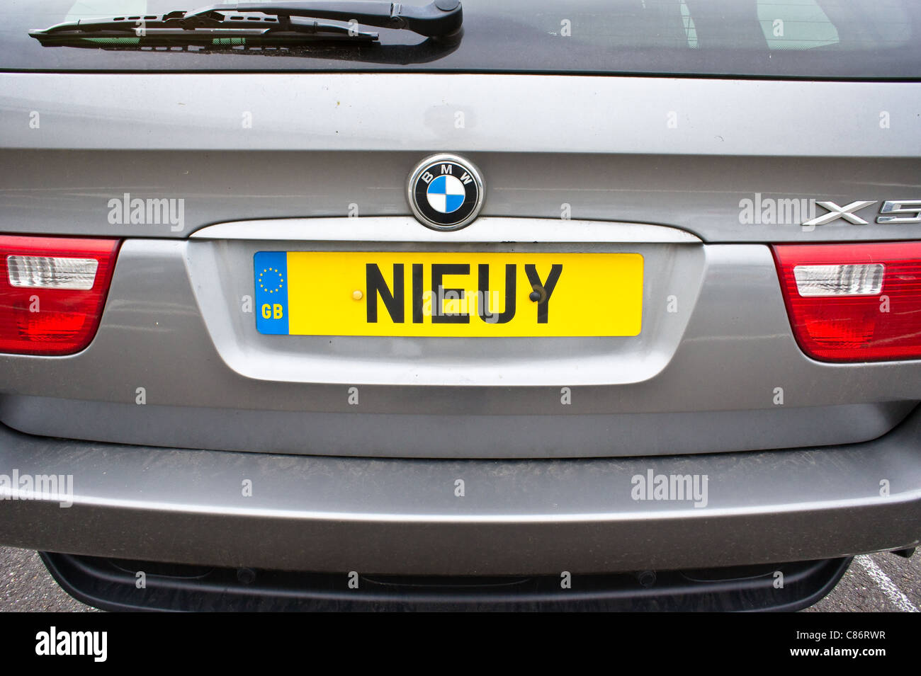 A UK car registration plate composed entirely of letters - Stock Image