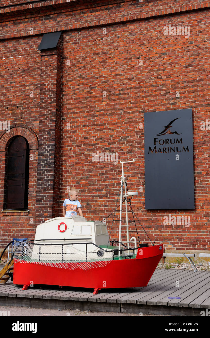 The Forum Marinum is a seafaring museum and the Finnish Navy museum. The Forum Marinum is also a venue for meetings - Stock Image