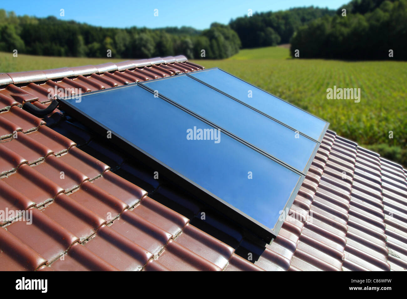 Solar collector - Stock Image