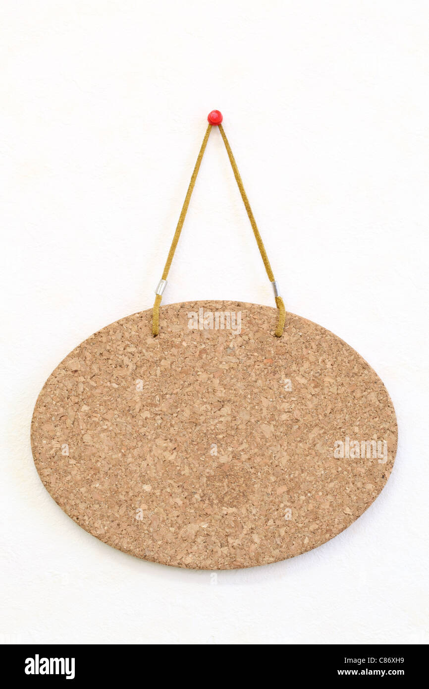 Blank Cork Board Hang On The Wall Background Stock Photo 39490565