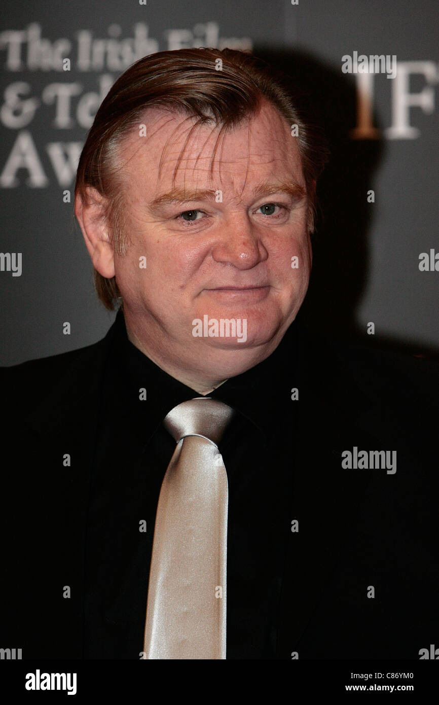 DUBLIN, IRELAND - FEBRUARY 14: Brendan Gleeson arrives at the 6th Annual Irish Film and Television Awards at the - Stock Image