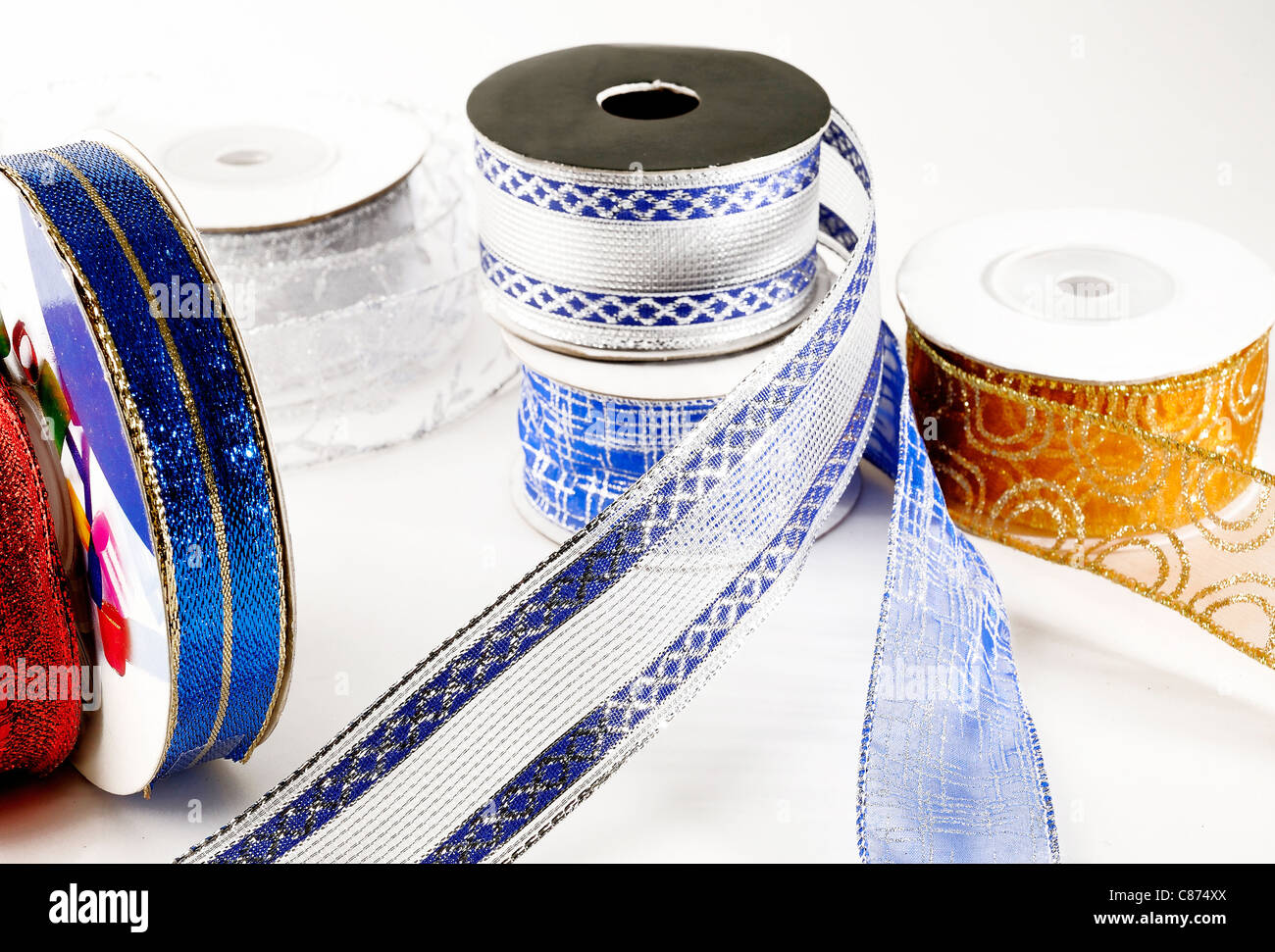 color ribbon - Stock Image