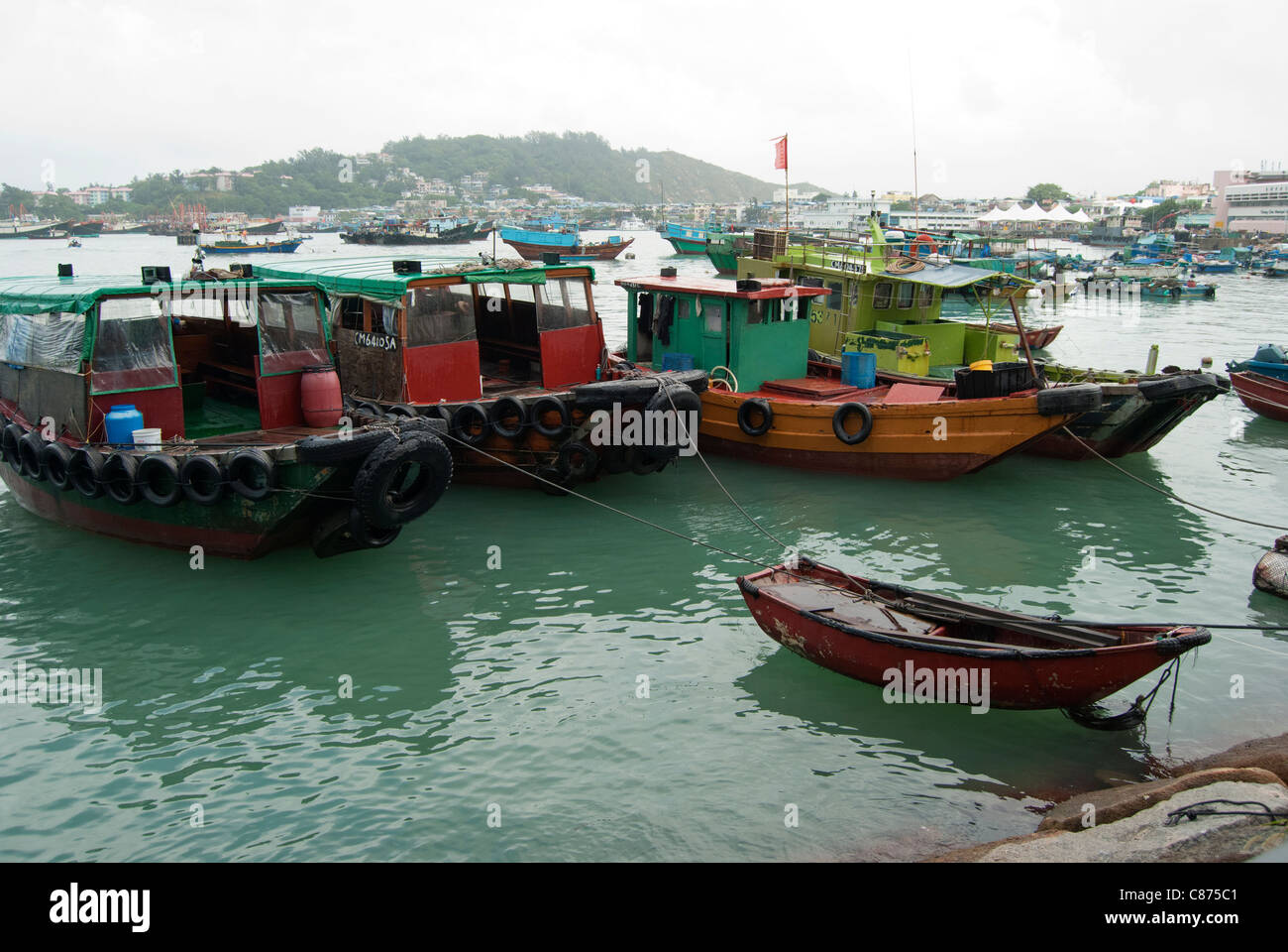 Cheung Chau Island, harbour - Stock Image
