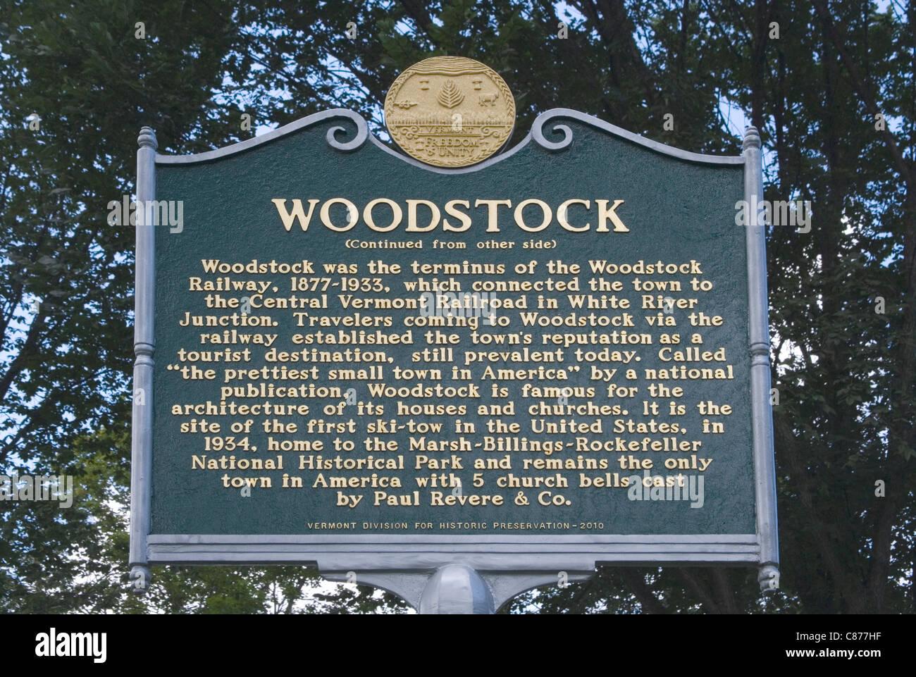 woodstock vermont celebrating its 250th anniversary - Stock Image