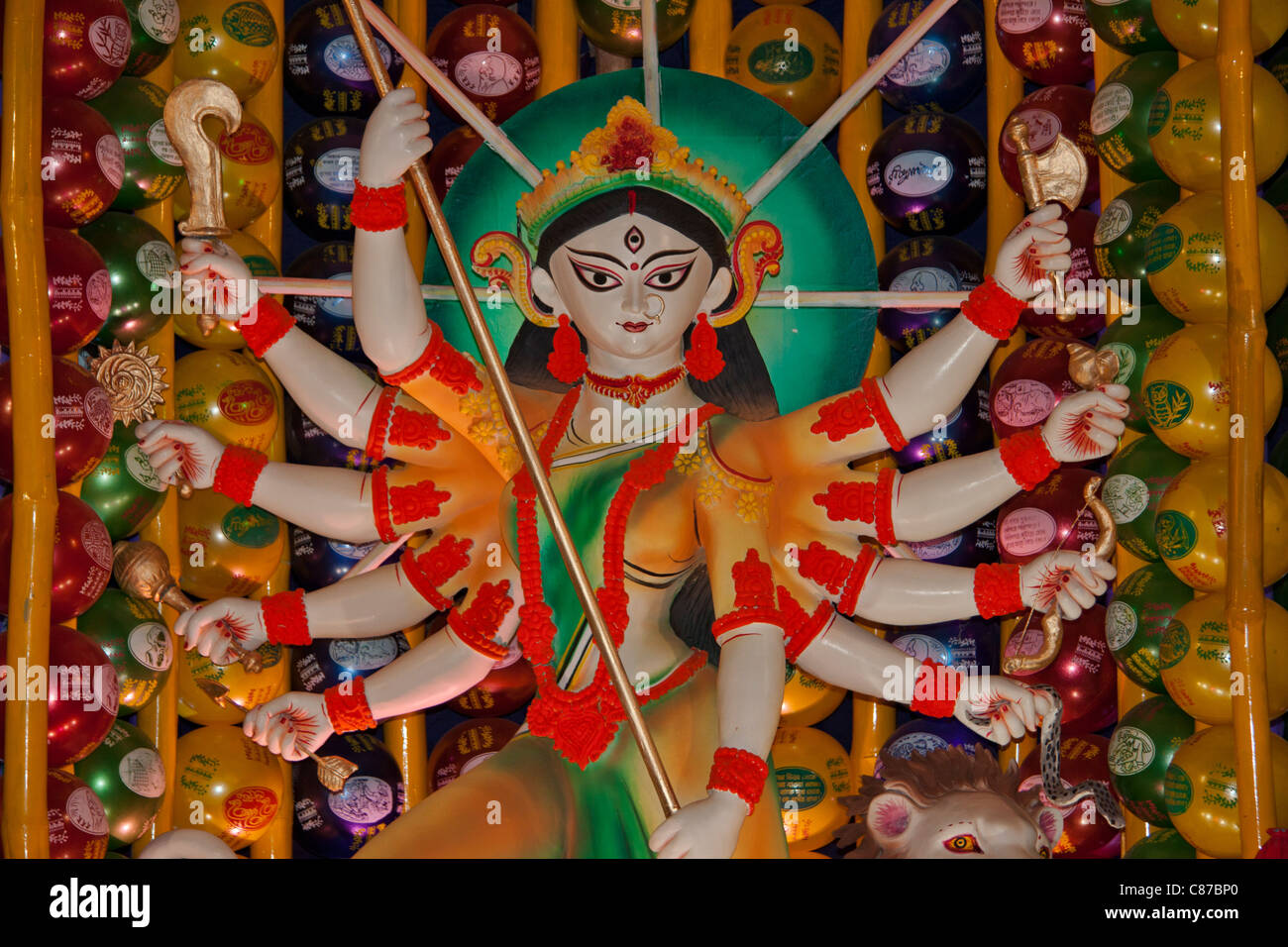 Durga Idol High Resolution Stock Photography And Images Alamy