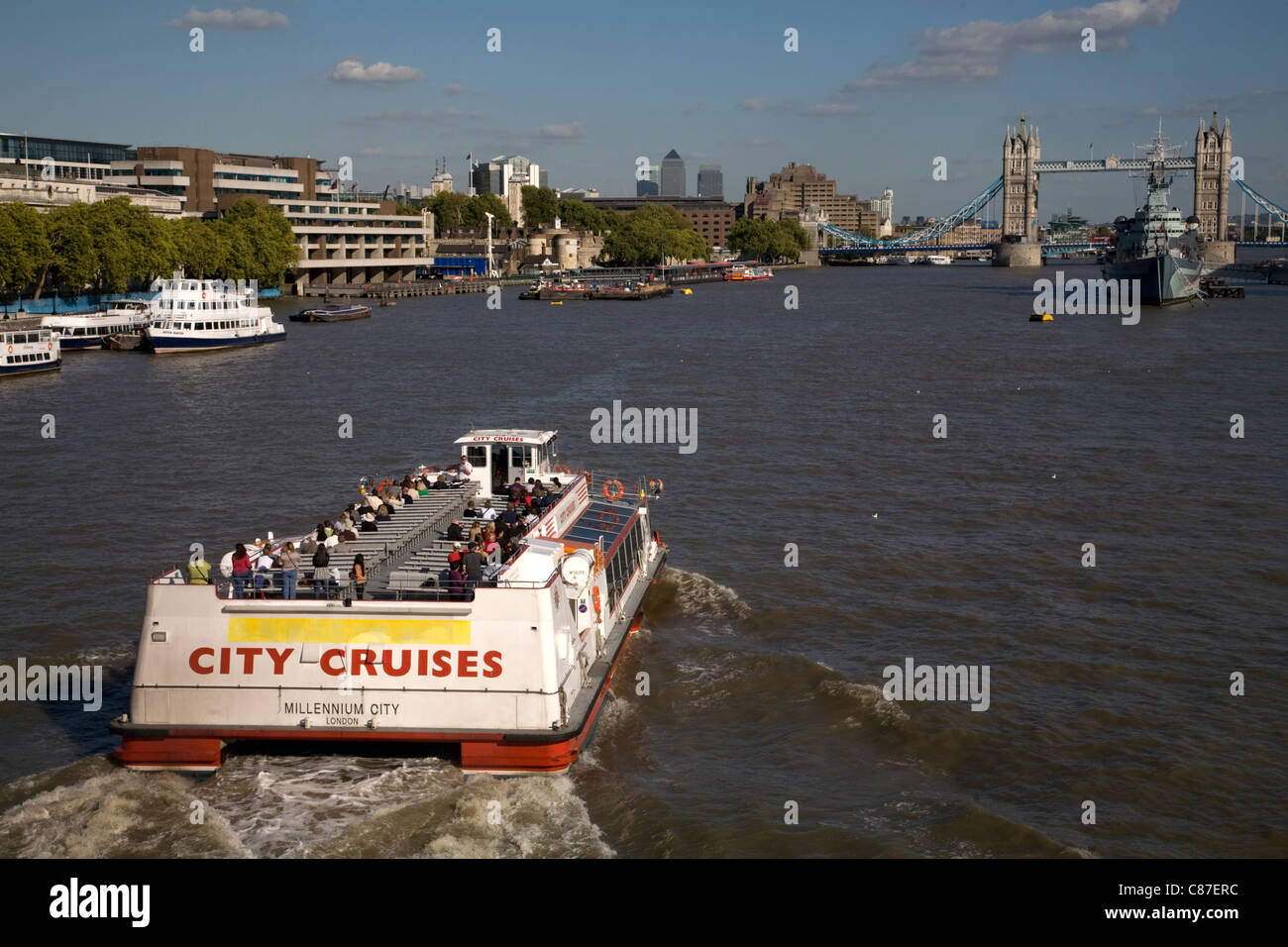 river thames city of london england - Stock Image