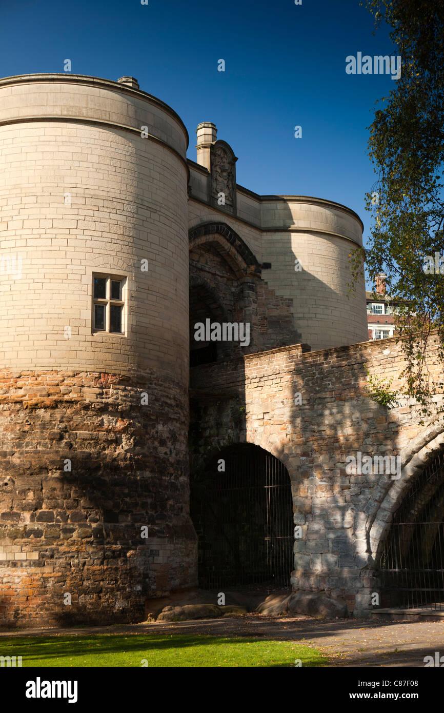 UK, Nottinghamshire, Nottingham Castle, gatehouse - Stock Image