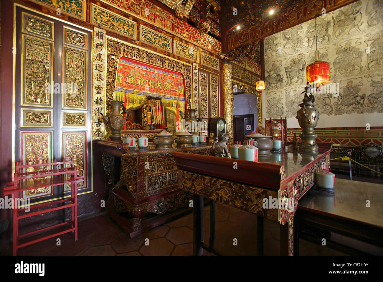 Khoo Kongsi clanhouse and temple, Georgetown, Penang, Malaysia - Stock Image