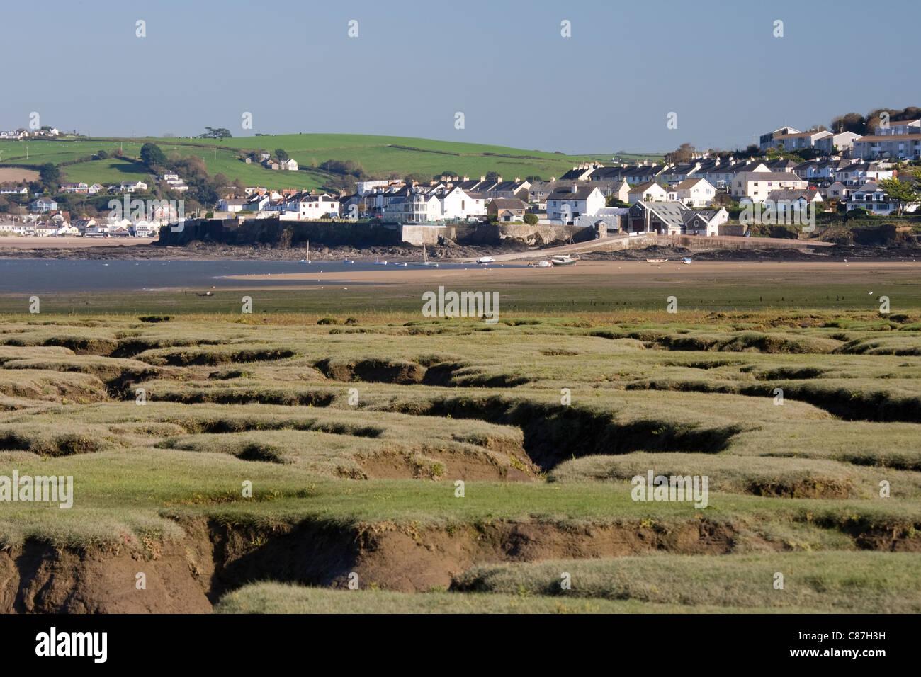 Appledore, North Devon from Northam Burrows Stock Photo