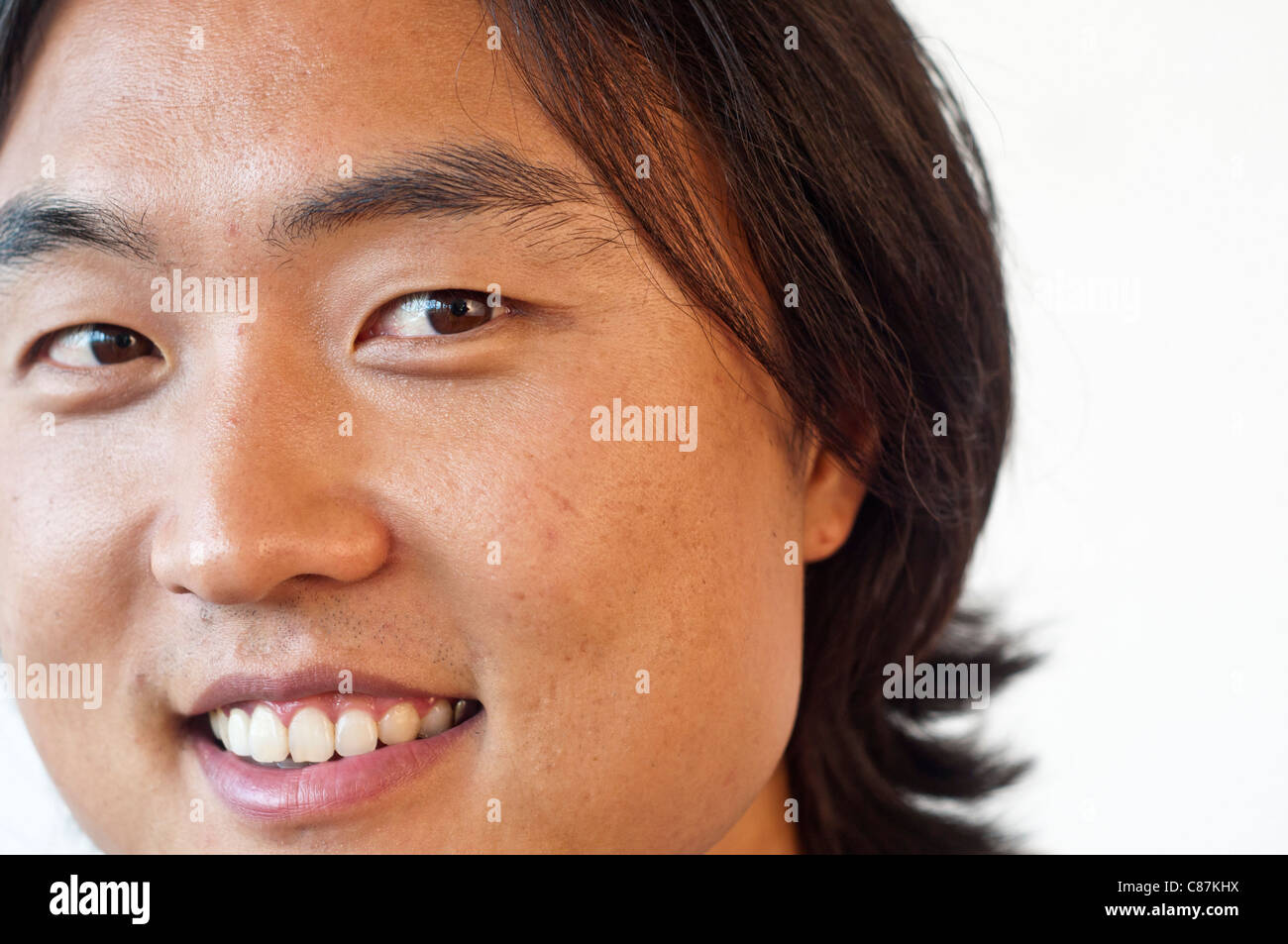 Asian young man portrait-No negative usage allowed - Stock Image