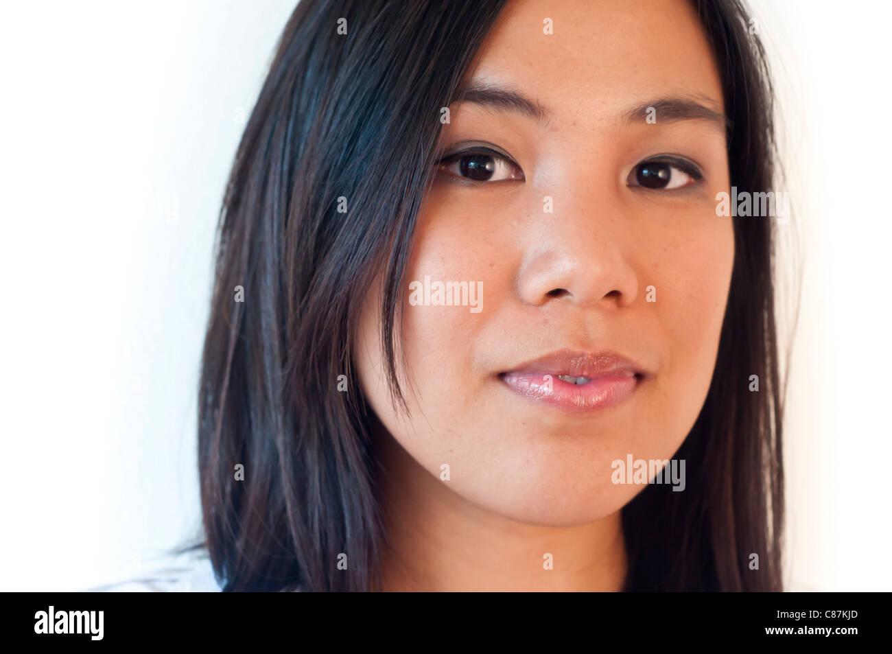 Asian woman portrait-No negative usage allowed - Stock Image
