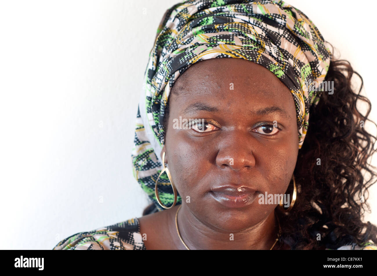 Beautiful African woman portrait - Stock Image