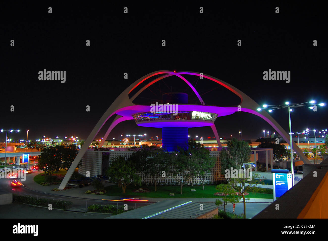Theme Building, Los Angeles International Airport, California - Stock Image