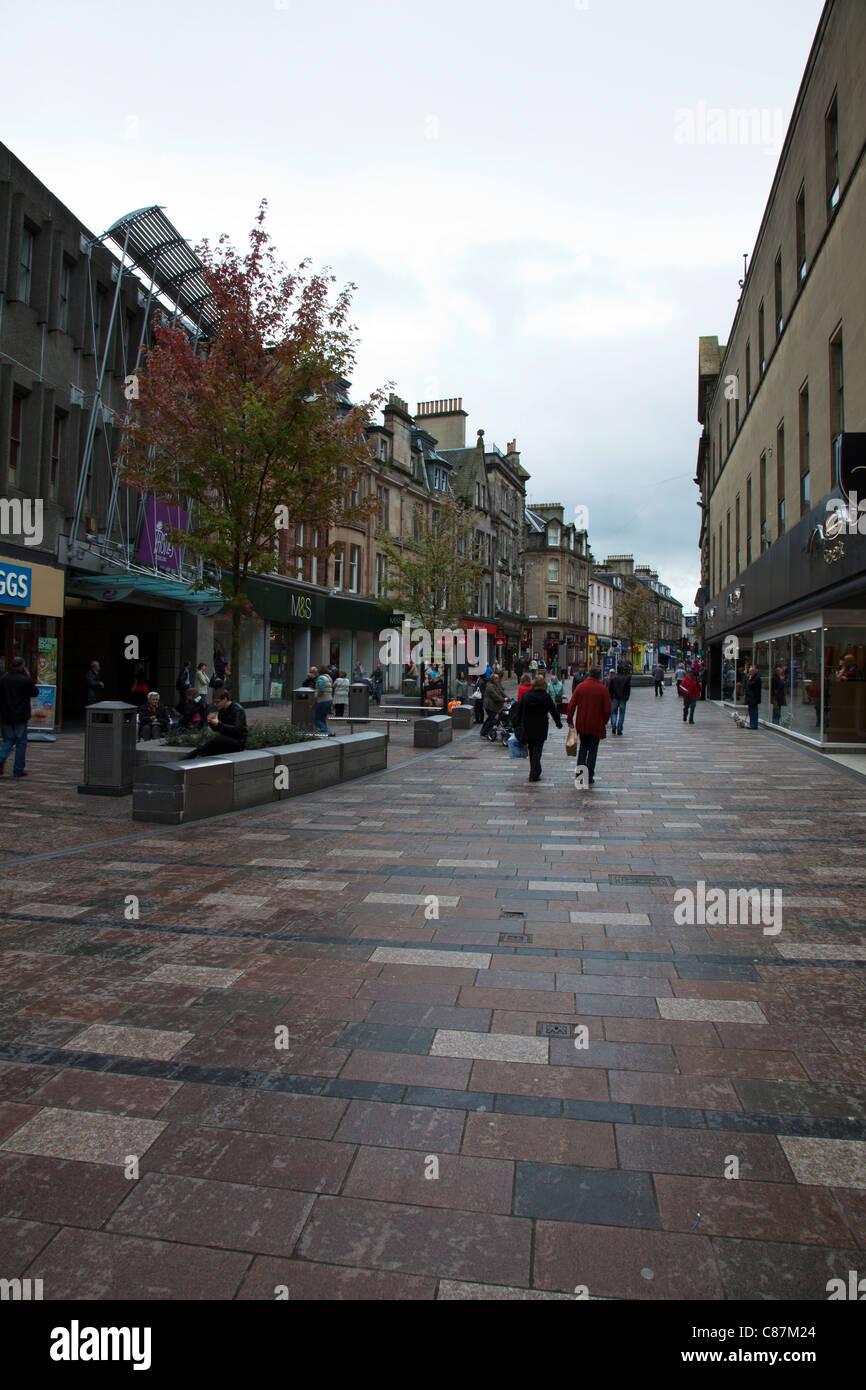 Stirling, Scotland, pedestrianized shopping centre, center, outside - Stock Image