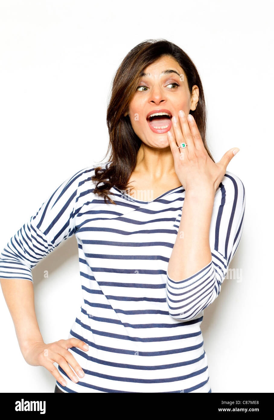 Expressive ethnic girl - Stock Image