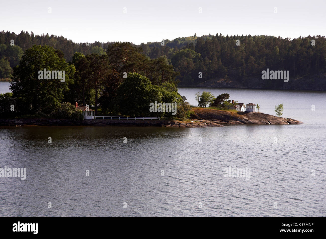 Island in the Stockholm archipelago, Sweden Stock Photo