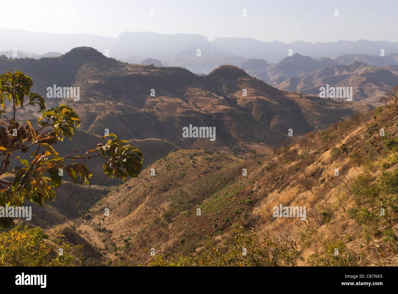 Elk200-2625 Ethiopia, landscape North of Gondar. - Stock Image
