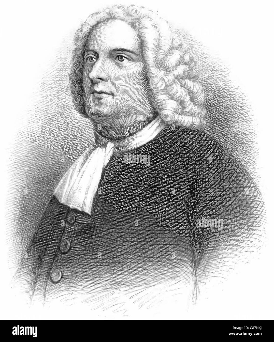 WILLIAM PENN  (1644-1718) English-born founder of province of Pennsylvania Stock Photo