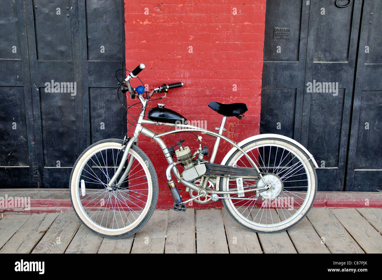 A motorized bicycle - Stock Image