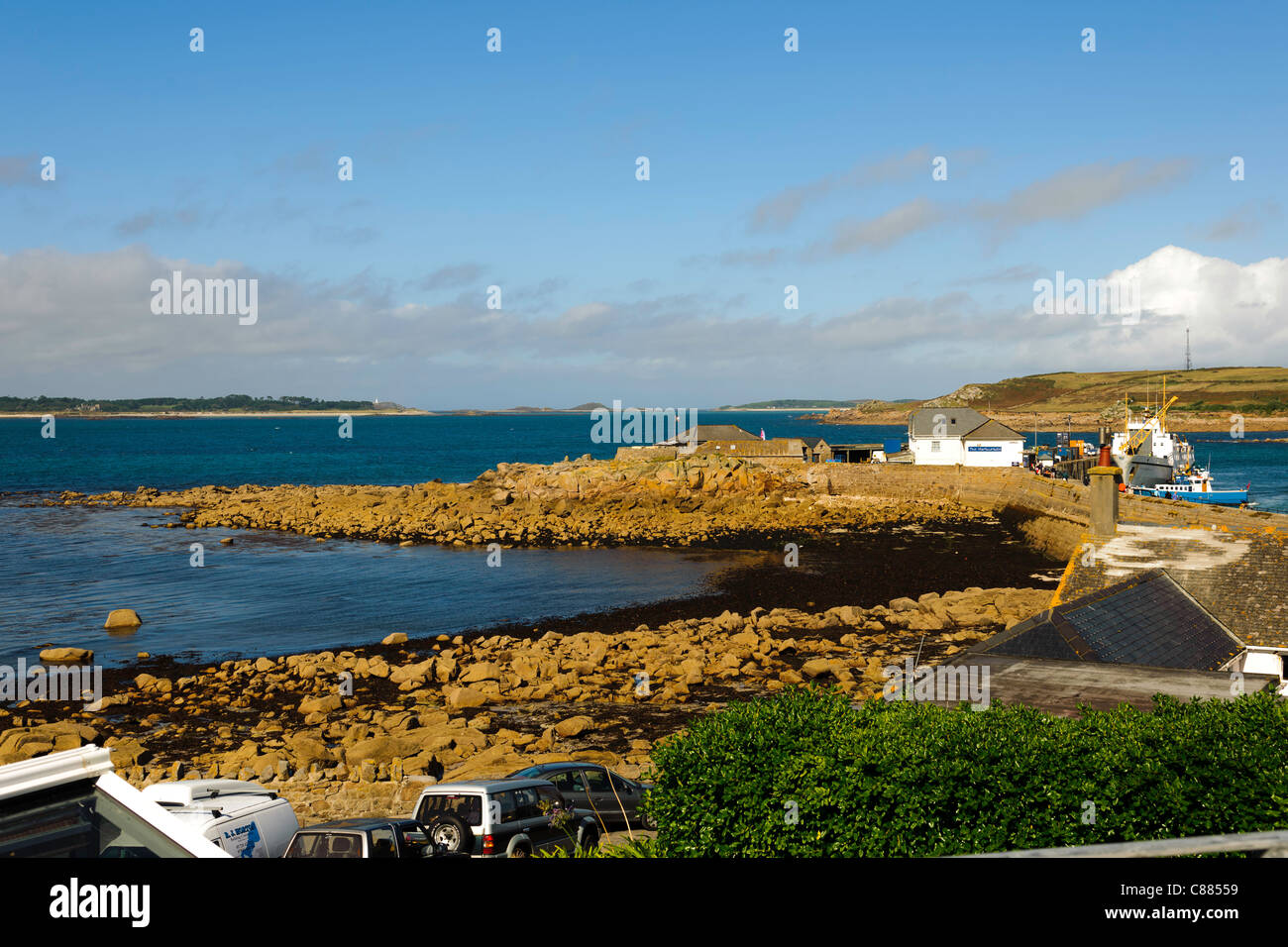Rat Island Hugh Town St Mary's Isles of Scilly UK - Stock Image