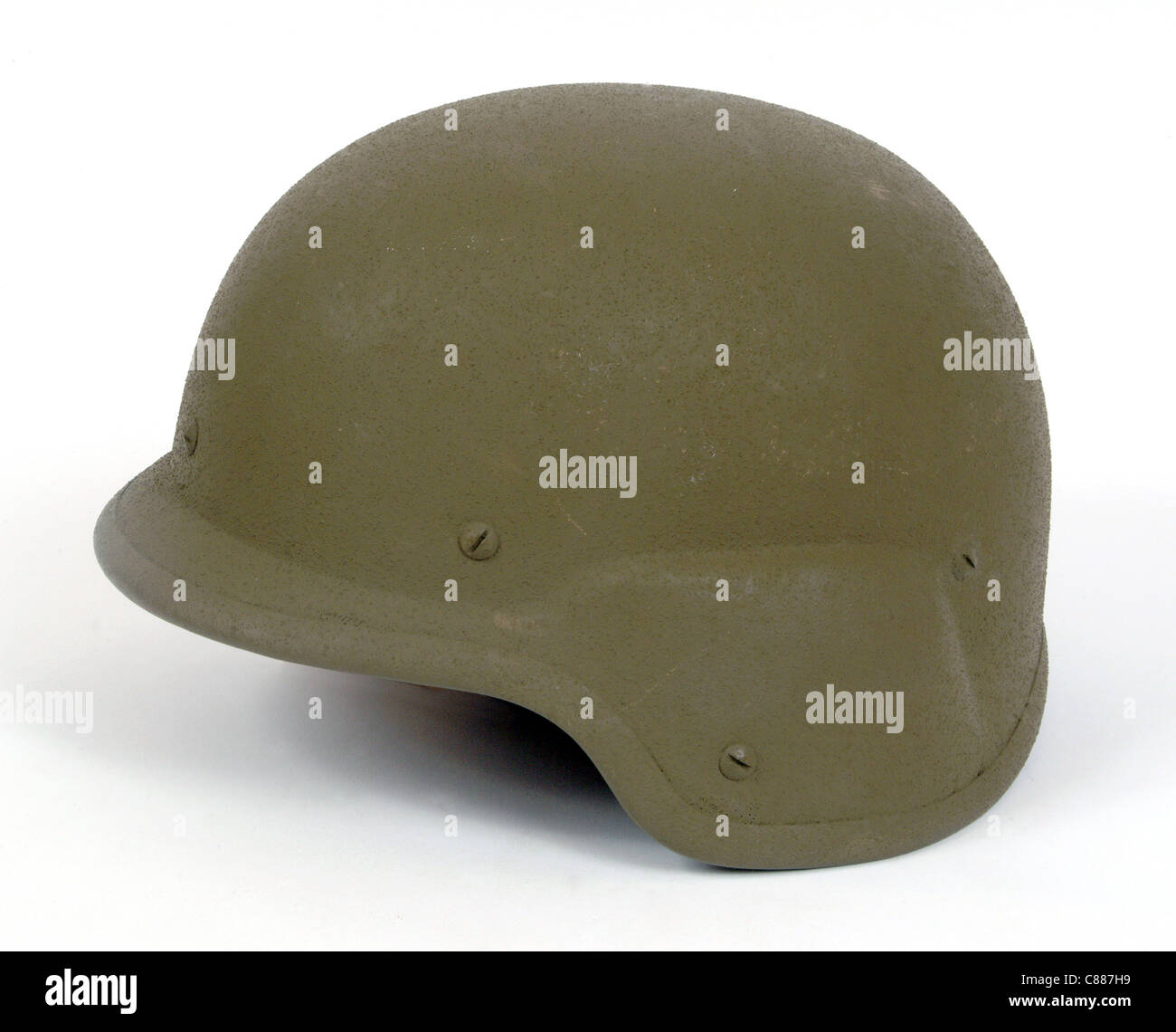 American PASGT kevlar protective combat helmet. Used during the Gulf War - Stock Image