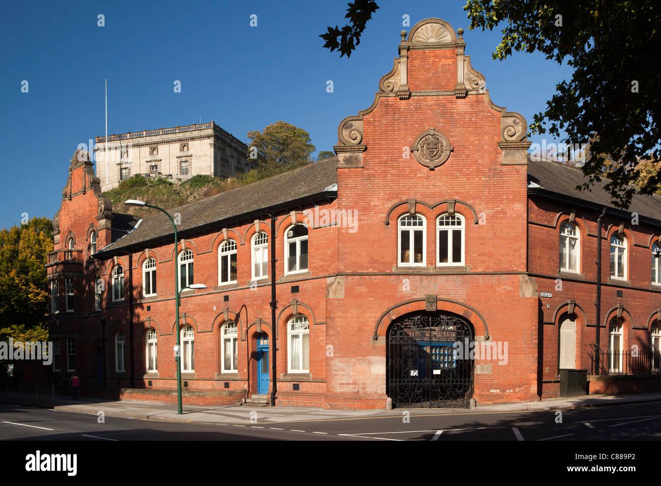 UK, Nottinghamshire, Nottingham, Castle Boulevard, old Corporation Water Works building below the castle - Stock Image