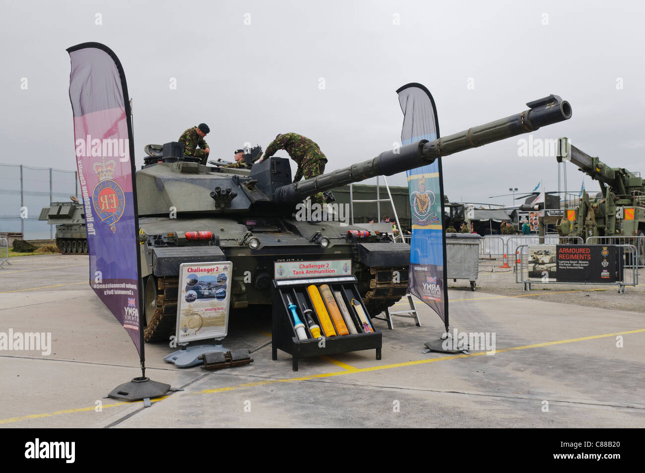 Challenger 2 tank - Stock Image