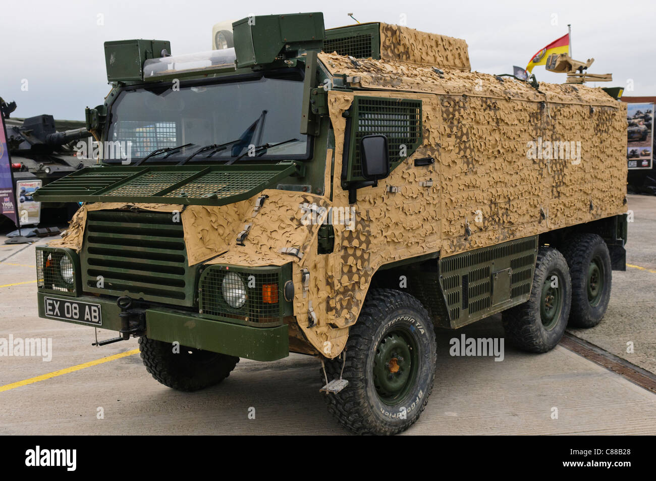Vector armoured troop carrier - Stock Image