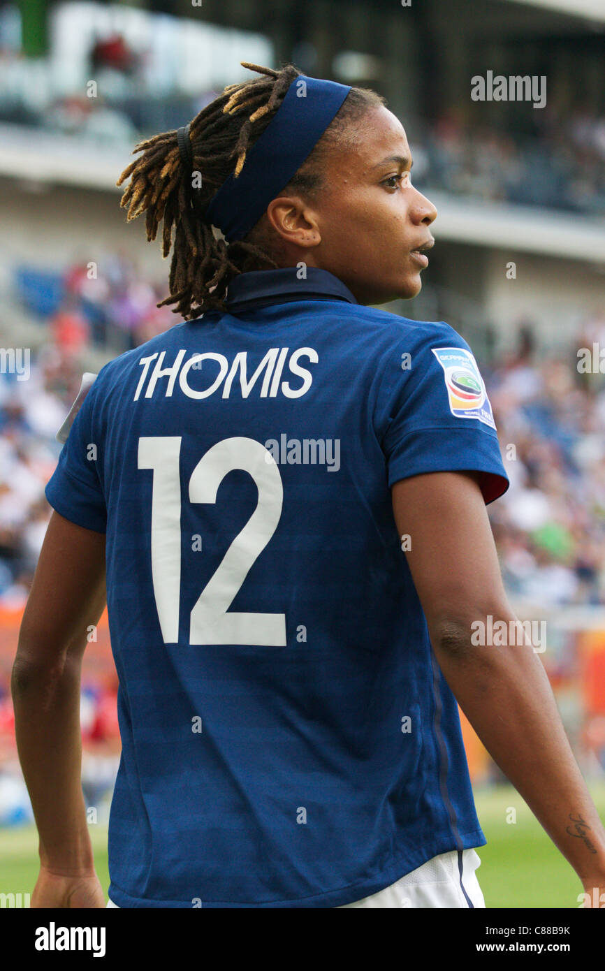 Elodie Thomis of France in action during the 2011 FIFA Women's World Cup third place match against Sweden. - Stock Image