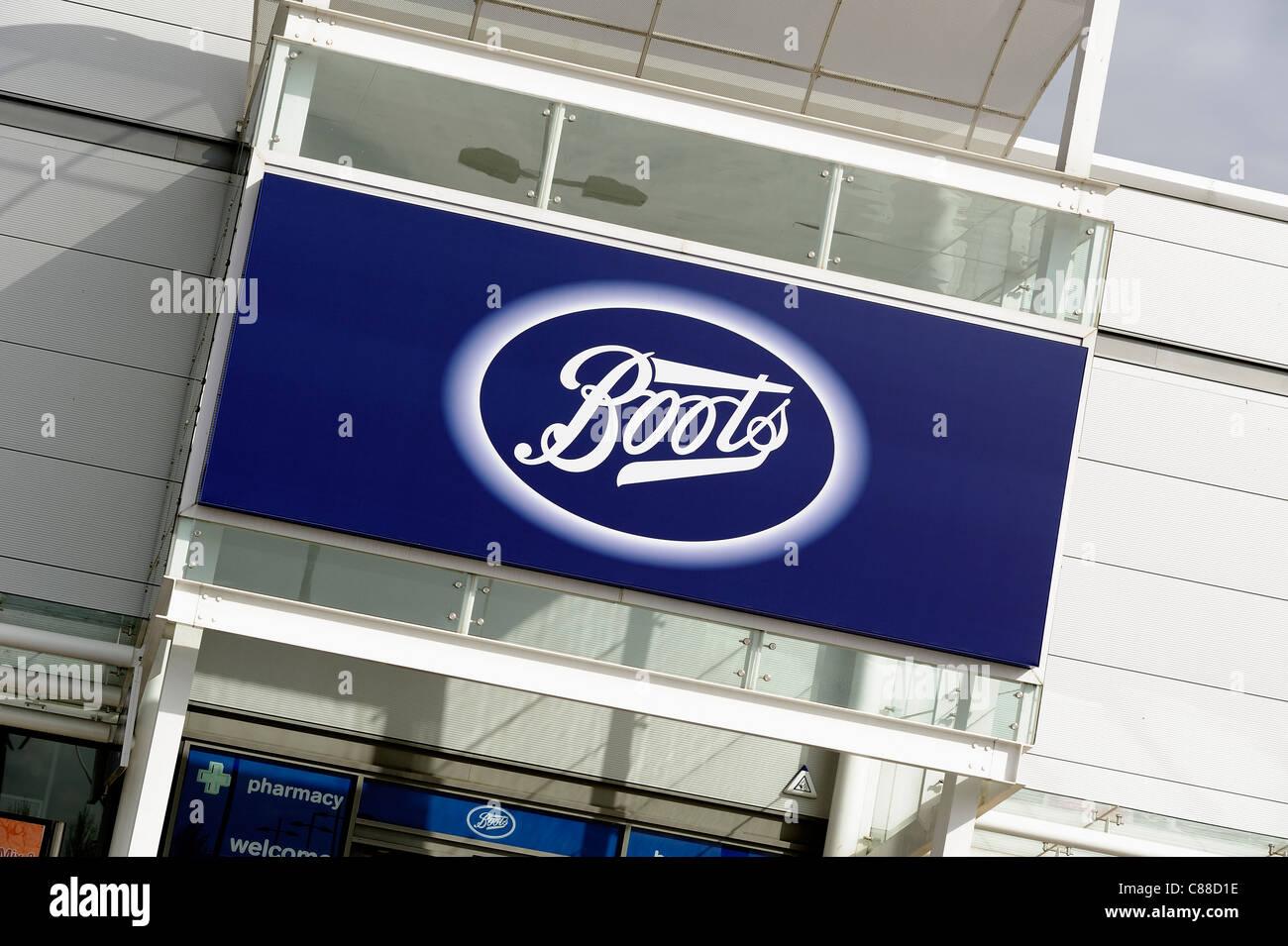 boots the chemist retail shop front england uk - Stock Image