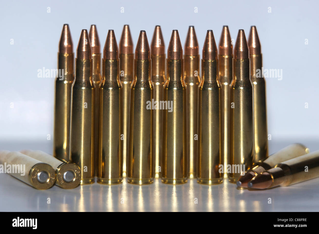 Rifle bullets - Stock Image