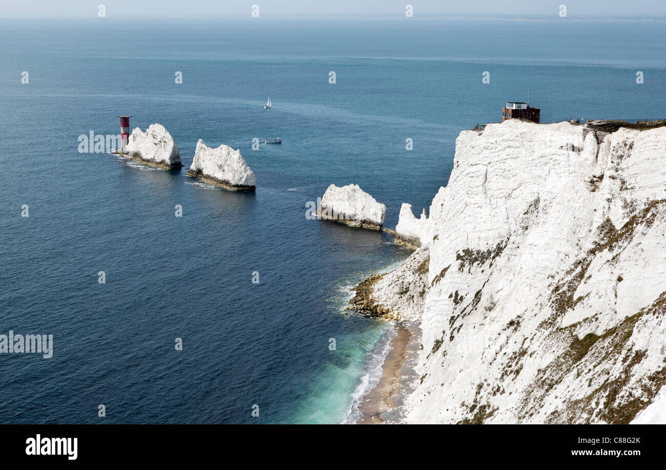 The Needles, The Isle of Wight - Stock Image